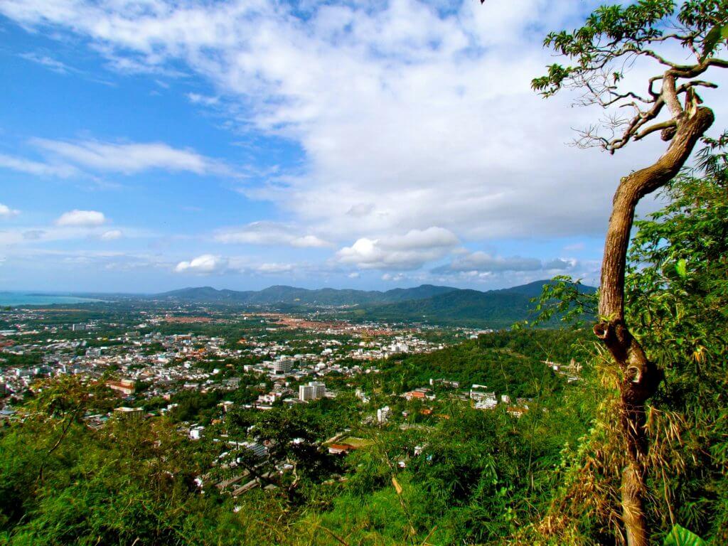 Uitzicht over Phuket in Thailand